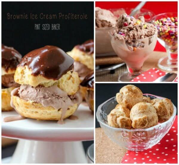 Brownie Ice Cream Profiteroles. An amazing dessert.