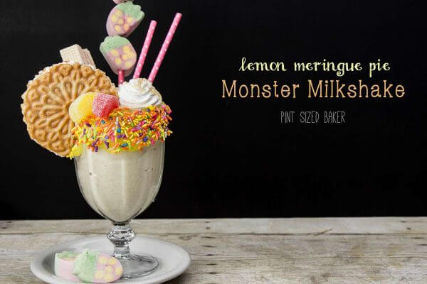 Lemon Meringue Pie Monster Milkshake. I'm in heaven!