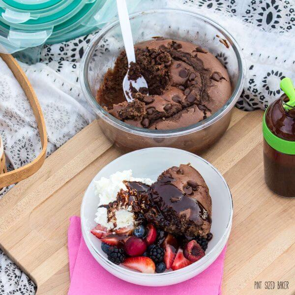 Easy Chocolate Cake that's perfect for a picnic.