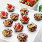 Strawberry Jalapeno Chocolate Mousse Cups have a bit of a kick to the taste buds. The sweet heat is a little jolt to the system.