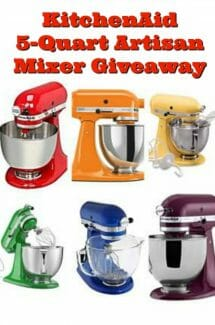 Celebration KitchenAid Mixer Giveaway