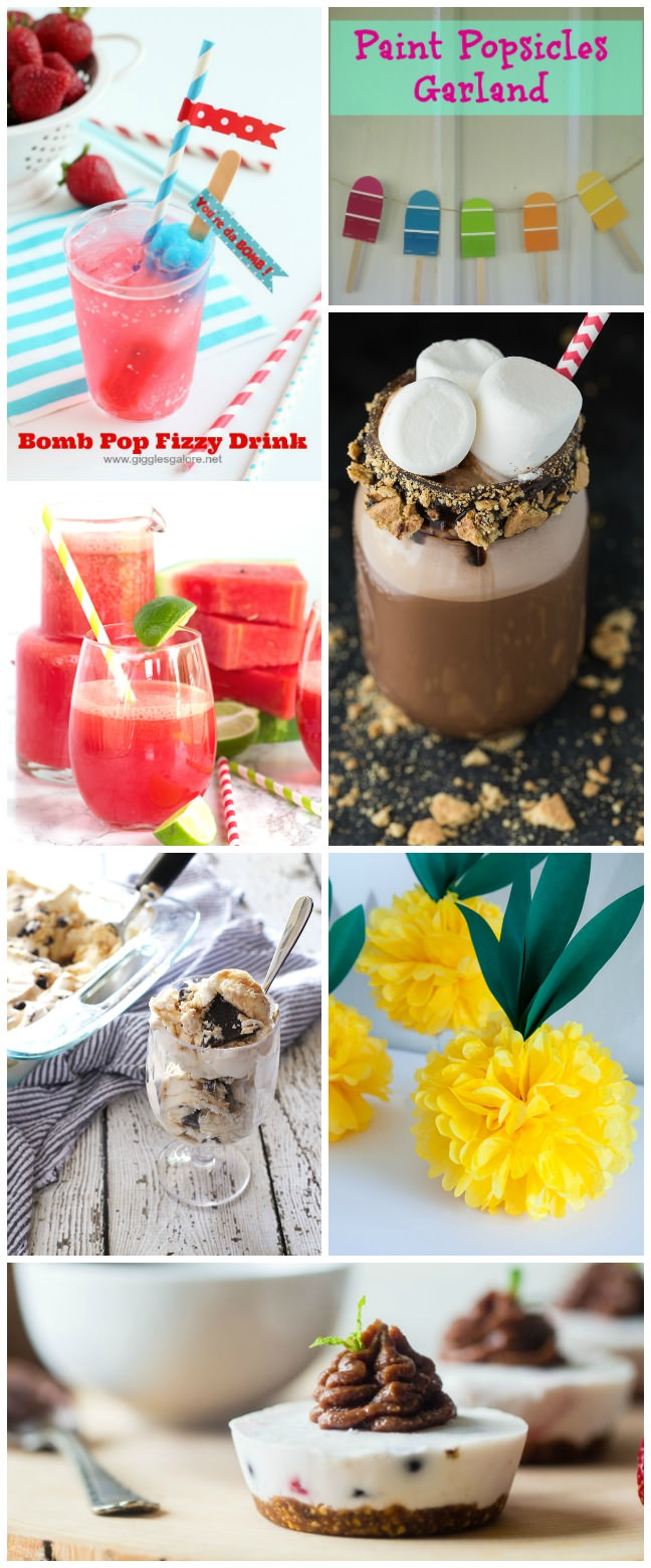 It's hot, hot, hot! Keep cool this summer with these Summer Fun Recipes and Crafts with milkshakes, ice creams and cool crafts for you summer parties.