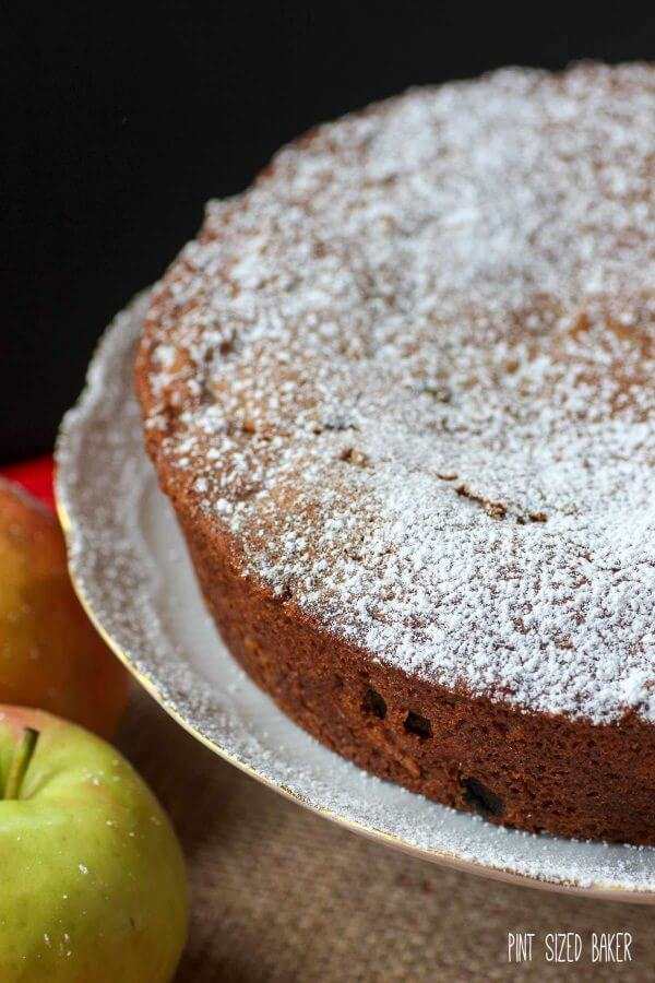 Spiced Applesauce Cake full of sweet cinnamon, crunchy walnuts, and yummy apple chunks. Serve it warm with a scoop of ice cream.