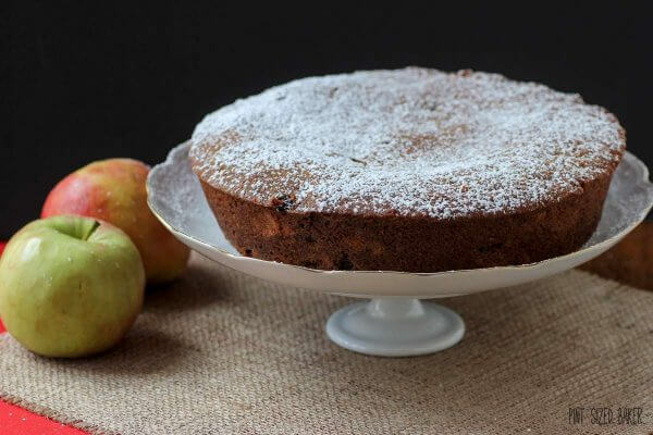 A Simple Spiced Apple Cake is perfect as is or add a scoop if vanilla ice cream. It's so good!