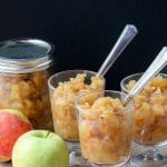 Homemade Chunky Applesauce Recipe. Serves perfectly with pork chops or as a warn topping on vanilla ice cream.