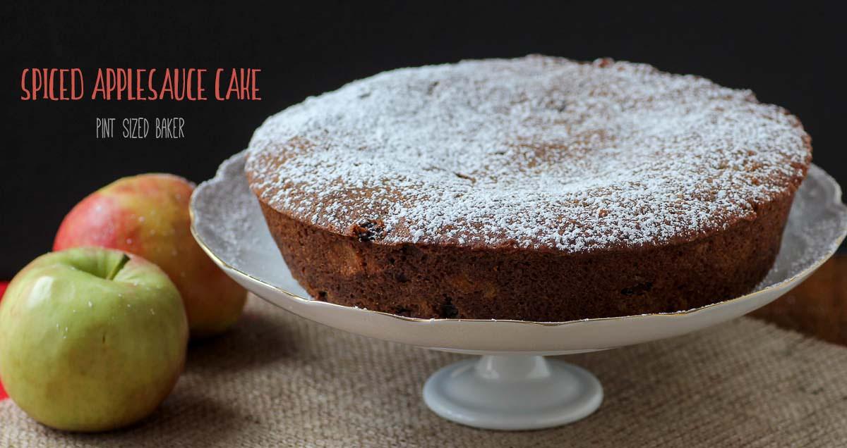 Spiced Applesauce Cake - Pint Sized Baker
