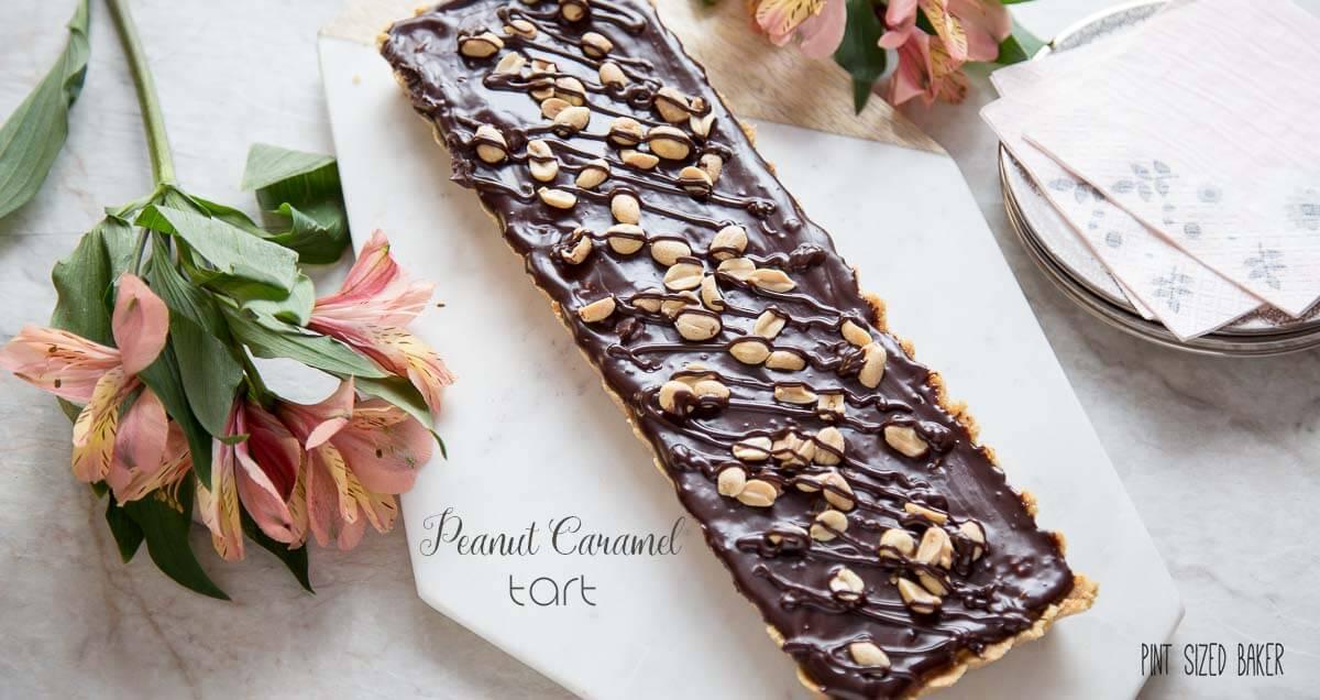 Peanut Caramel Tart - Pint Sized Baker