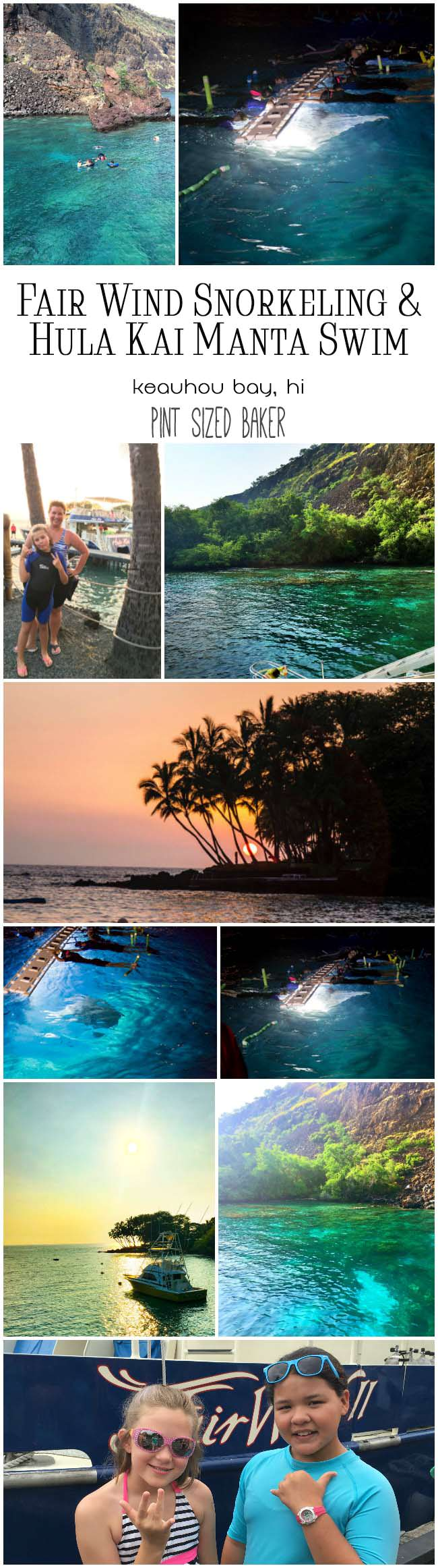 When you visit Kailua-Kona you must check out Fair Winds for great snorkeling, dolphin watching, and swimming with the manta rays at night. WOW!