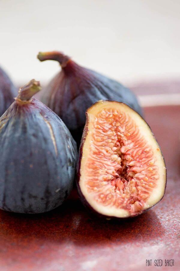 Beautiful Figs ready to be eaten for a yummy, healthy snack.