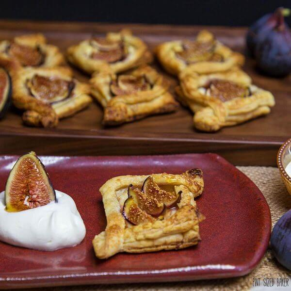 Easy Fig Tarts served with whipped cream. A quick summer treat .