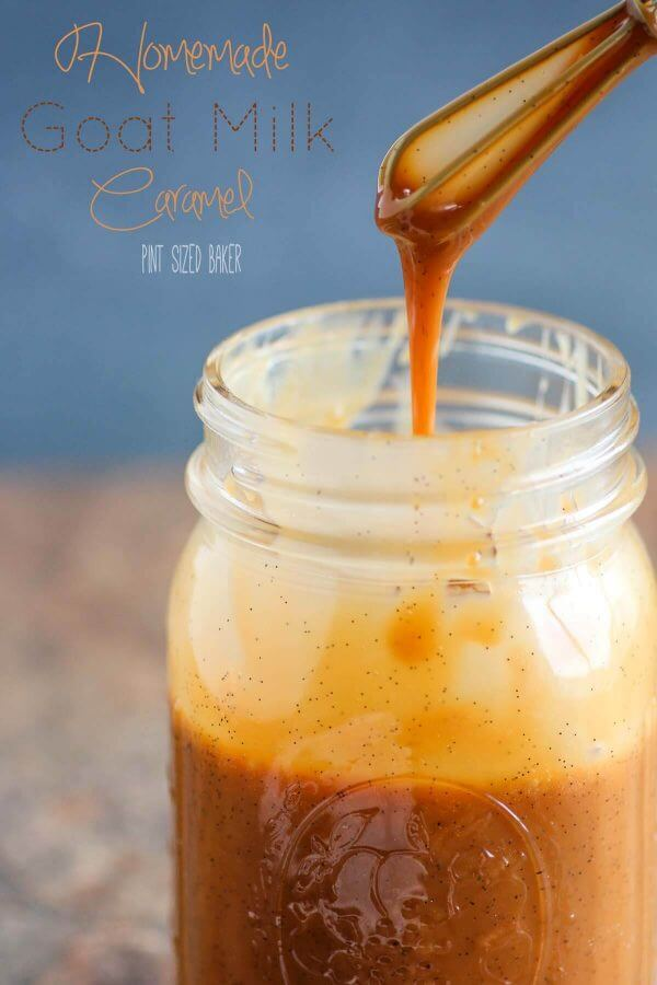 Don't be squeemish - this Goat Milk Caramel is so yummy! It's so good and decadent. It's great on ice cream, pie, and cheesecakes.