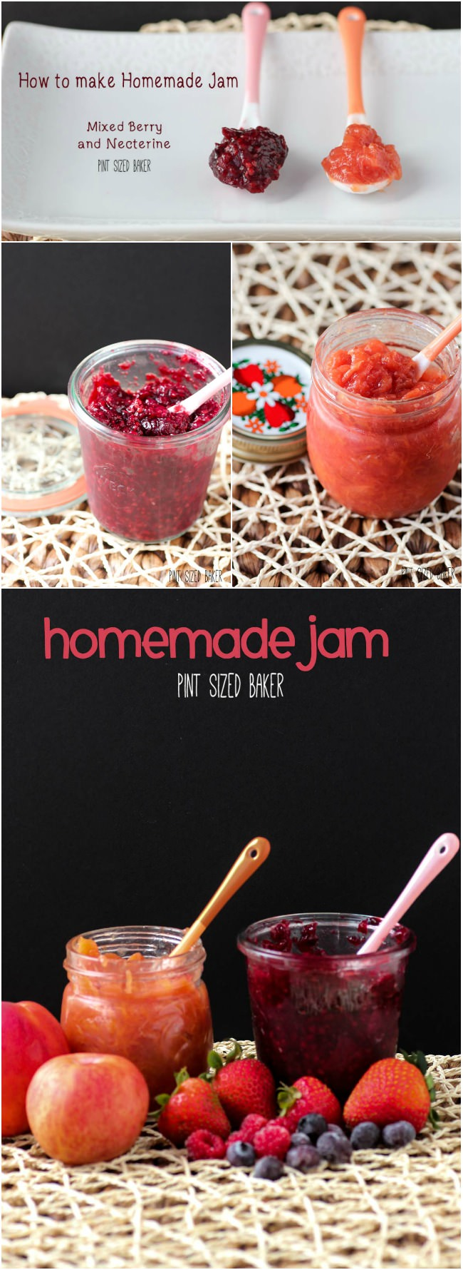 Making your own homemade jam with fresh, seasonal fruits is easy. I made mixed berries and a nectarine jam in an hour.