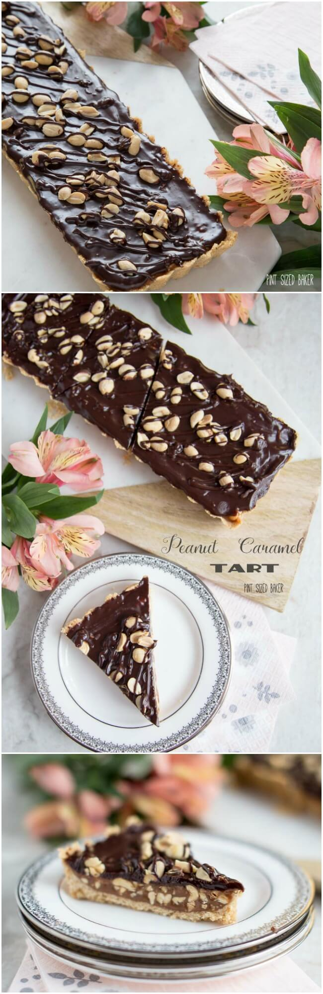Peanut and Caramel Tart that is quick to make but so yummy to eat! I'll take two slices please.