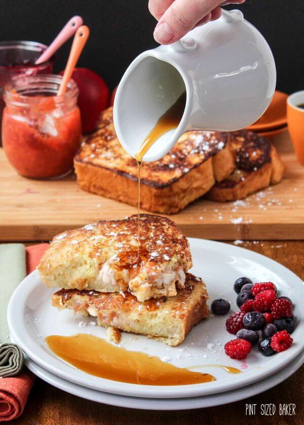 Pour some warm maple syrup over your Stuffed French Toast or dust on some powdered sugar. It's all good.