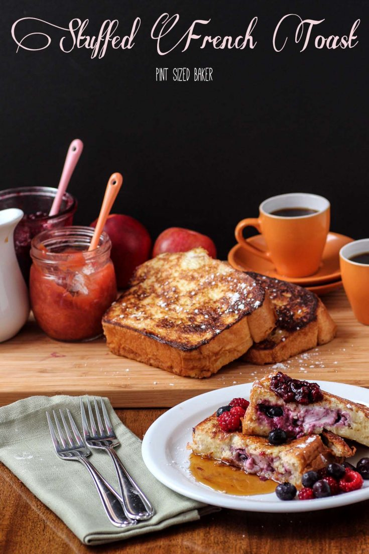 Heat up you skillet, because you're making this Stuffed French Toast! Stuffed full of cream cheese and homemade jam. You'll love it!