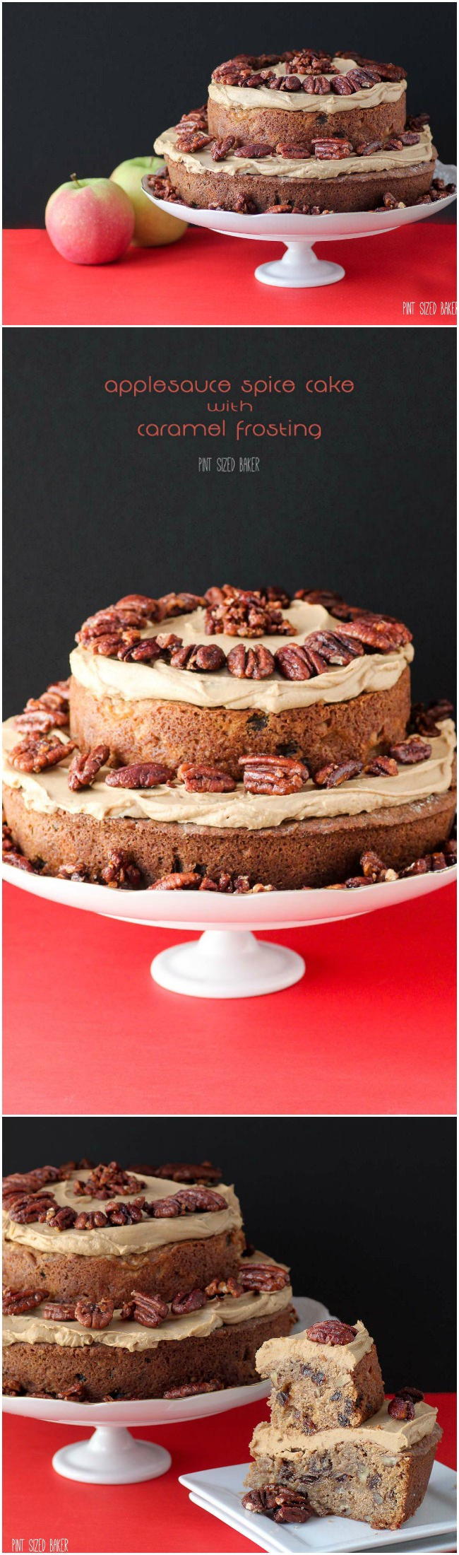 Enjoy an Applesauce Spice Cake with Caramel Frosting! It's a great cake full of Autumn flavors of cinnamon, cloves and apples. YUM!