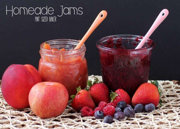 Make small batch homemade jam in less than an hour. This recipe does not require any added sugar.