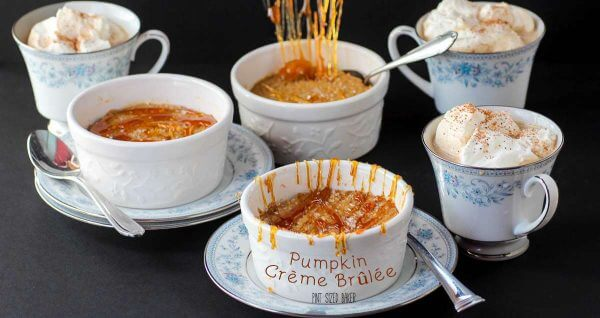 Delicious, smooth and creamy Pumpkin Crème brûlée with no kitchen torch required.