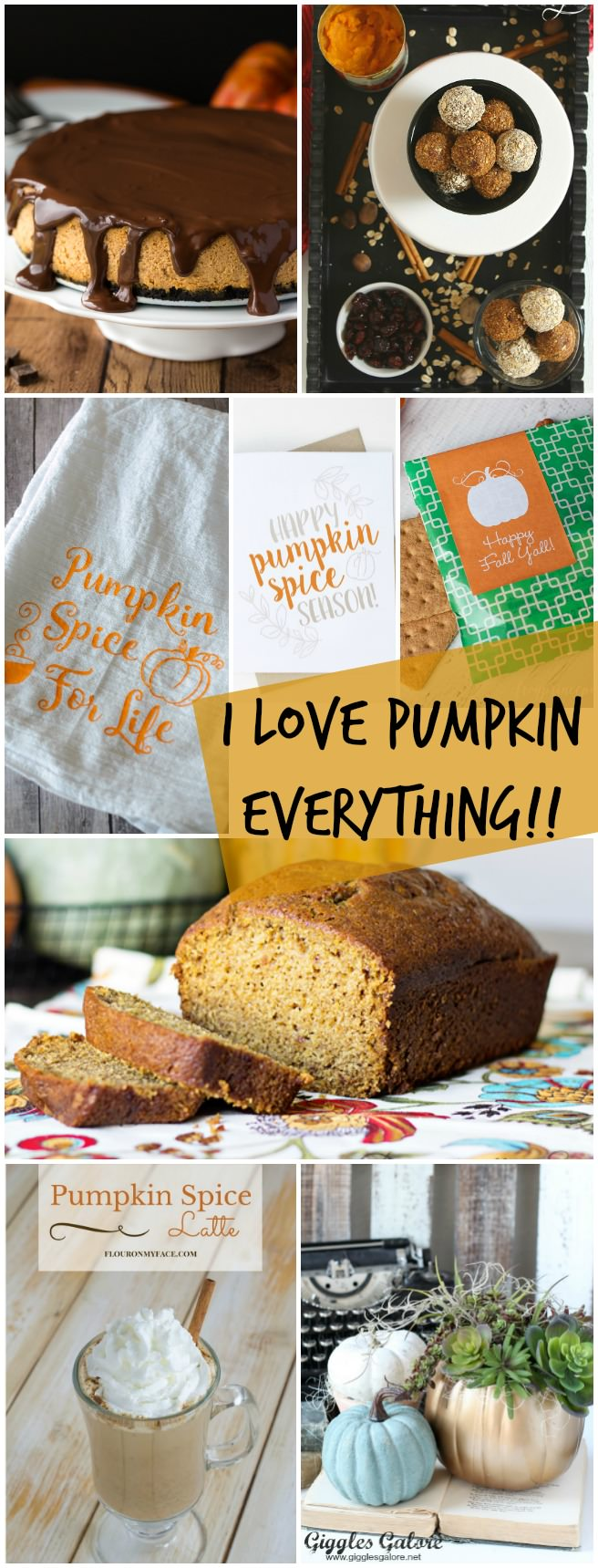 I love pumpkin everything! - Sweets, decor, DIY, and everything else with pumpkin spice!!