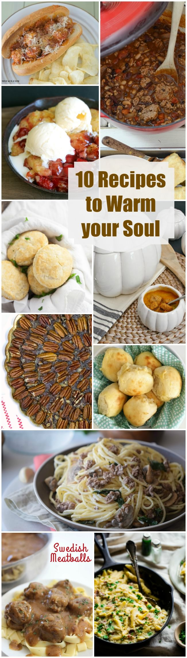 Ten Great Fall Recipes to Warm your Soul. Chili, Biscuits, Pie, and More!!
