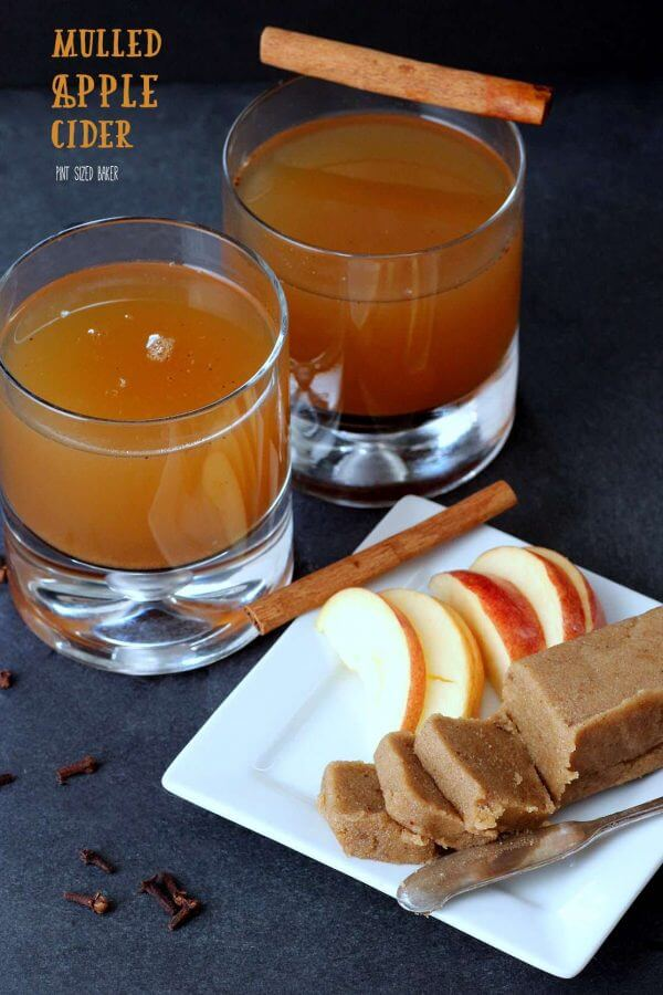 Serve your hot mulled cider with a pat of cinnamon butter and a cinnamon stick garnish.