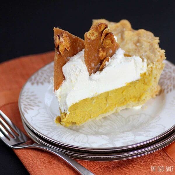 The perfect slice of Thanksgiving Pumpkin Pie is waiting to be made.