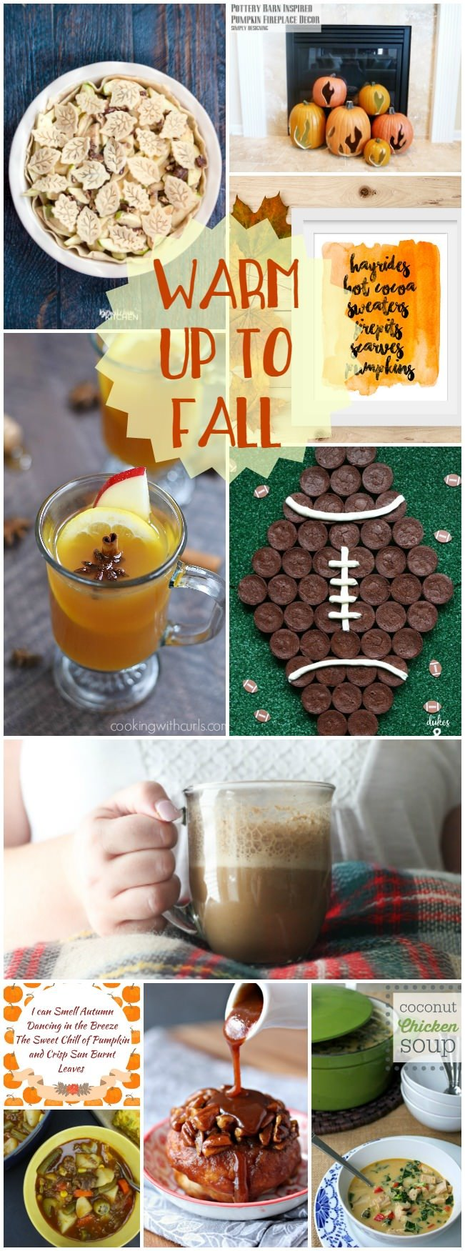 Warm up to Fall with this fun collection of food, drinks and crafts.