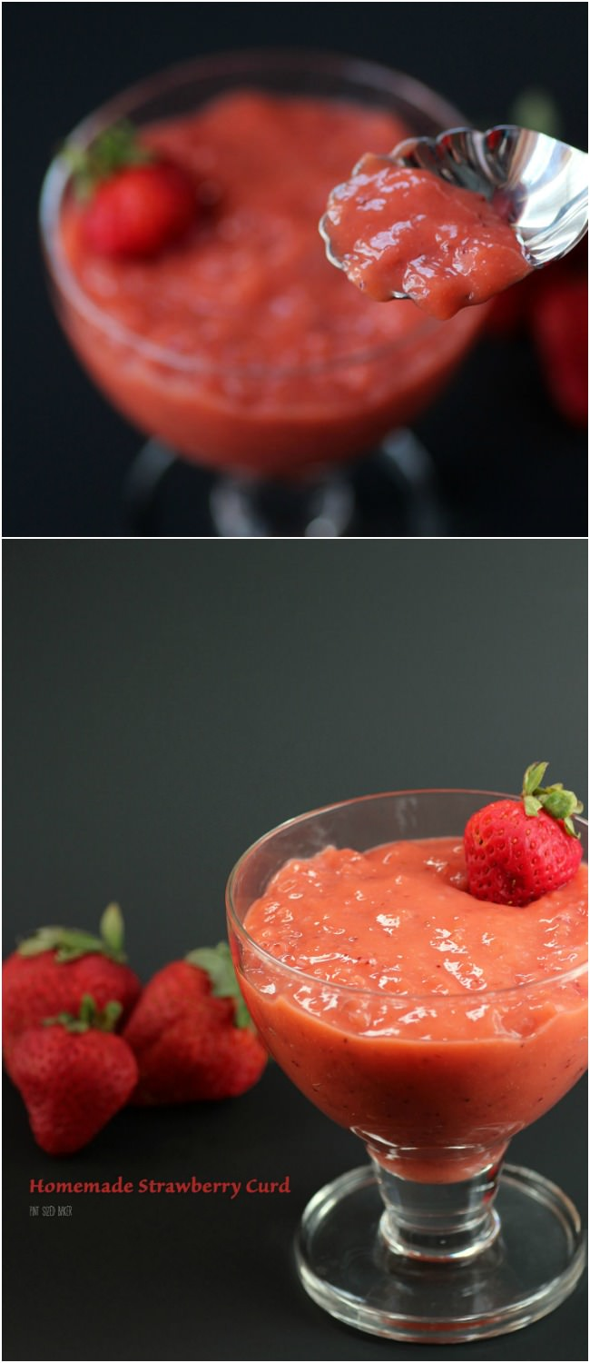 you've had Lemon curd, now you can enjoy some homemade strawberry curd ...