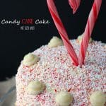 A stunning Candy Cane Cake that my guests LOVED! The candy cane bits were the perfect compliment to the dark chocolate cake.