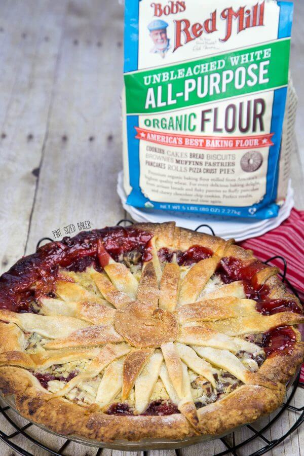 Bob's Red Mill Organic Flour is perfect for all of your holiday baking. Use it to make this amazing Cherry Berry Pie!