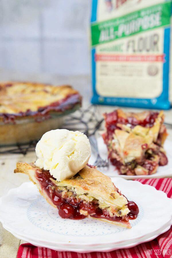 For this Cherry Berry Pie I used Bob's Red Mill Organic Flour. It's is perfect for all of your holiday baking this Christmas season. AD