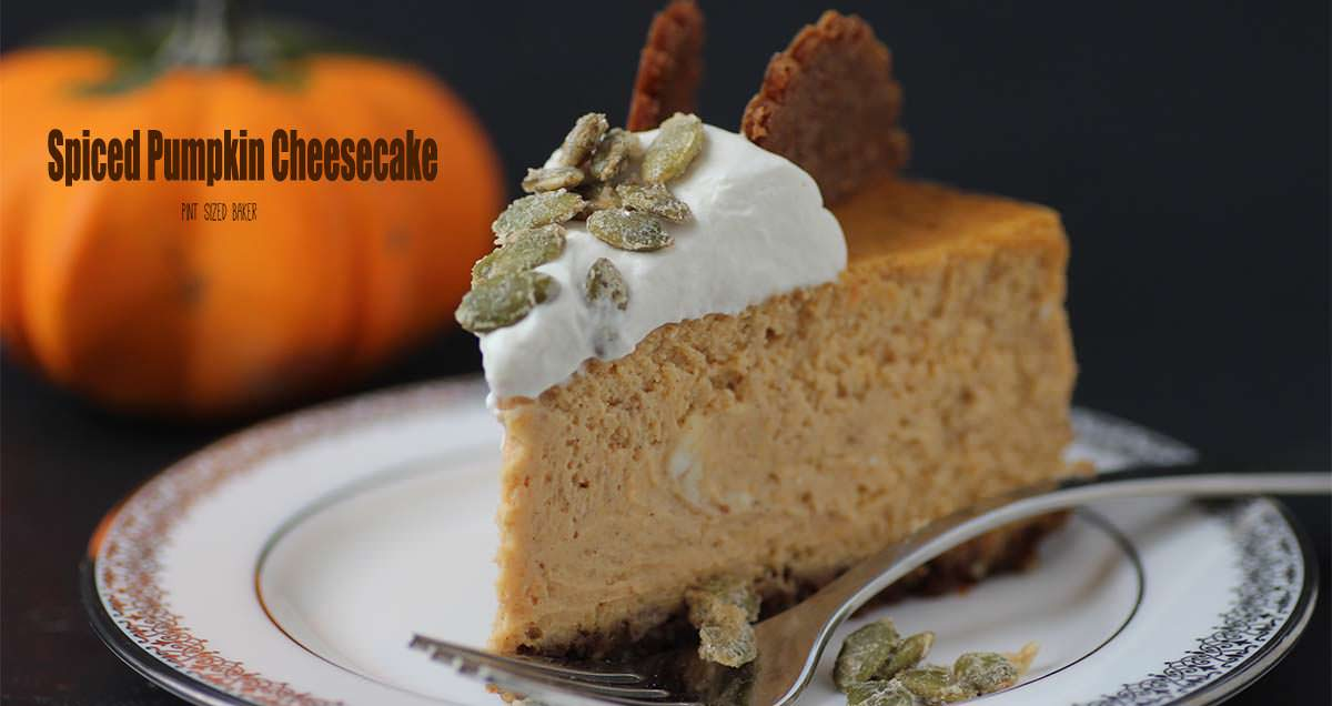 Fancy Pumpkin Spice Cheesecake Recipe with Ginger Cookie Crust