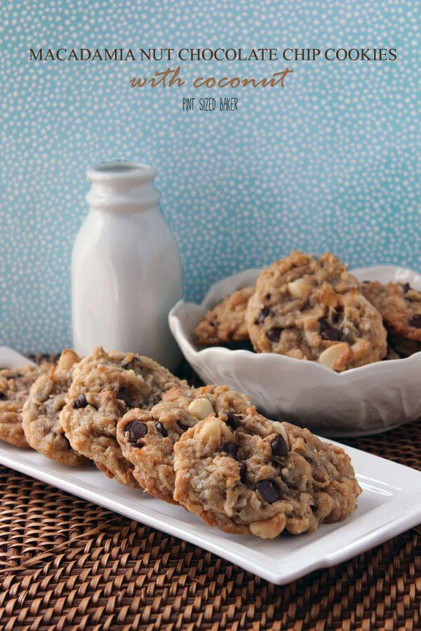 Macadamia Nut Chocolate Chip Cookies with Coconut. Man, these were some amazing, bakery-like cookies!!