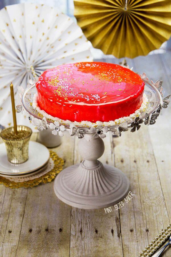 Make a Mirror Birthday Cake for someone special this year! No huge decorations required.