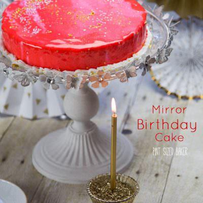 Mirror Birthday Cake Tutorial