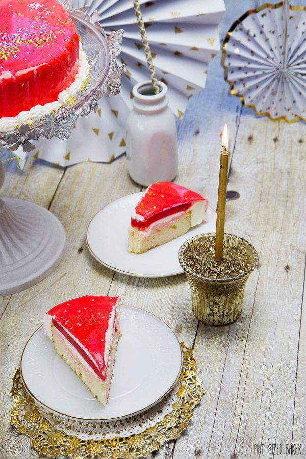 Serve up this special Red Mirror Cake for your next birthday celebration.
