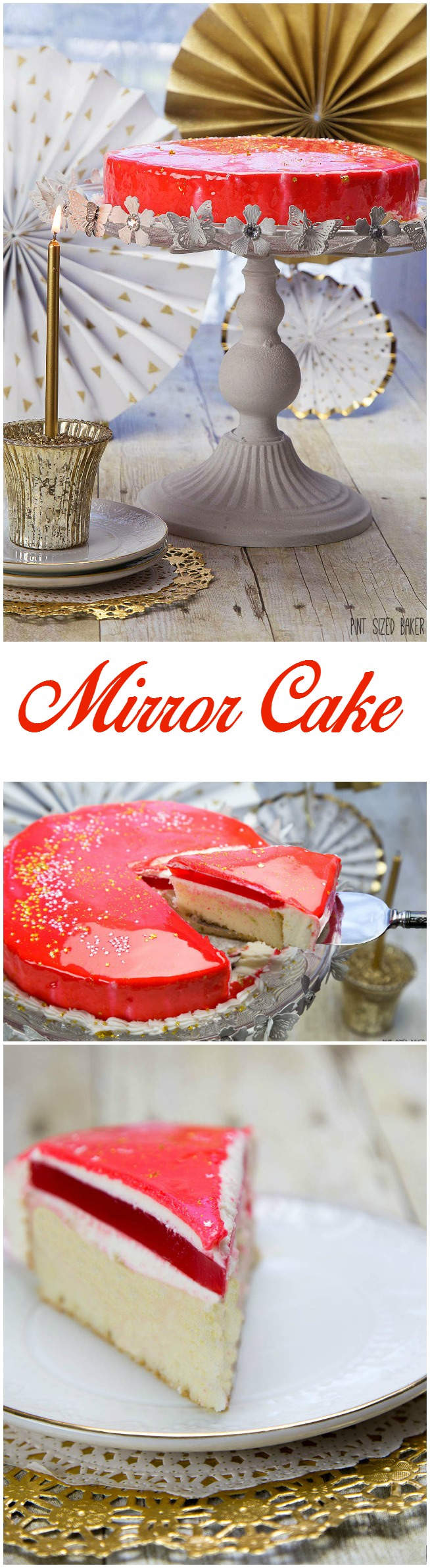 Birthday Cake Images For Special Person : Mirror Birthday Cake Tutorial - Pint Sized Baker