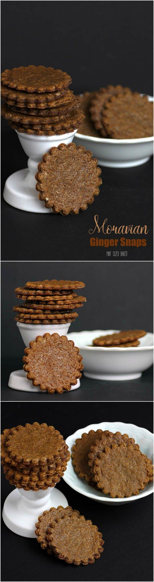 Enjoy a few Moravian Ginger Snaps with your tea or coffee. Spicy with a great crunch!