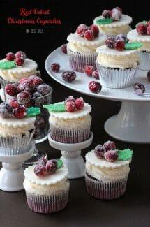 Red Velvet Christmas Cupcakes