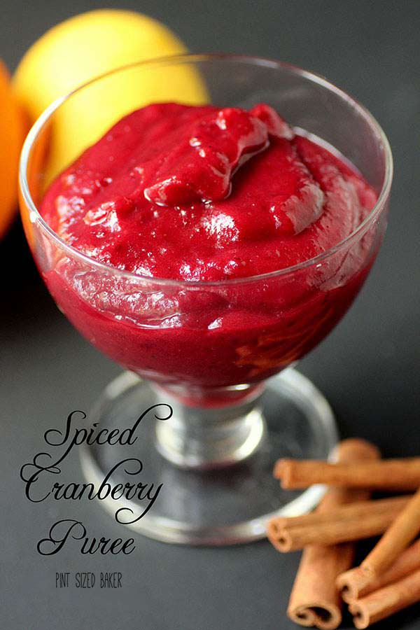 Spiced Cranberry Puree - perfect for your holiday desserts.
