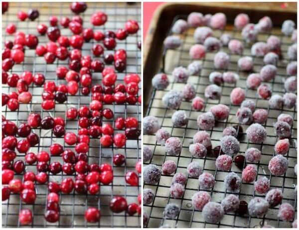 For a special treat, make some sugared cranberries for your dessert toppings. They are great!
