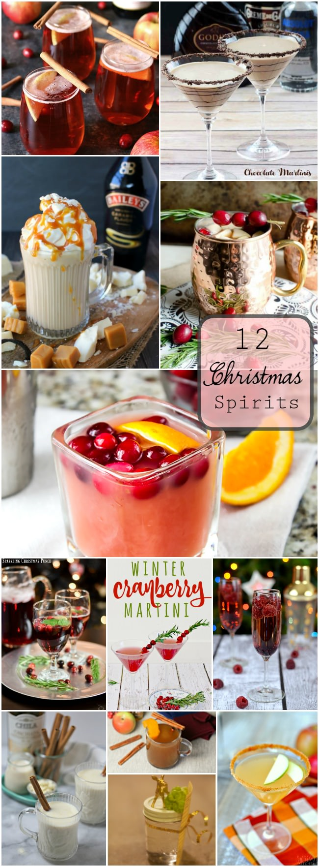 Enjoy these 12 Christmas Spirits this holiday! They are sure to get you and your company in the jolliest of moods!