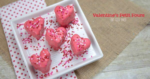 Homemade Petit Fours for Valentine's Day