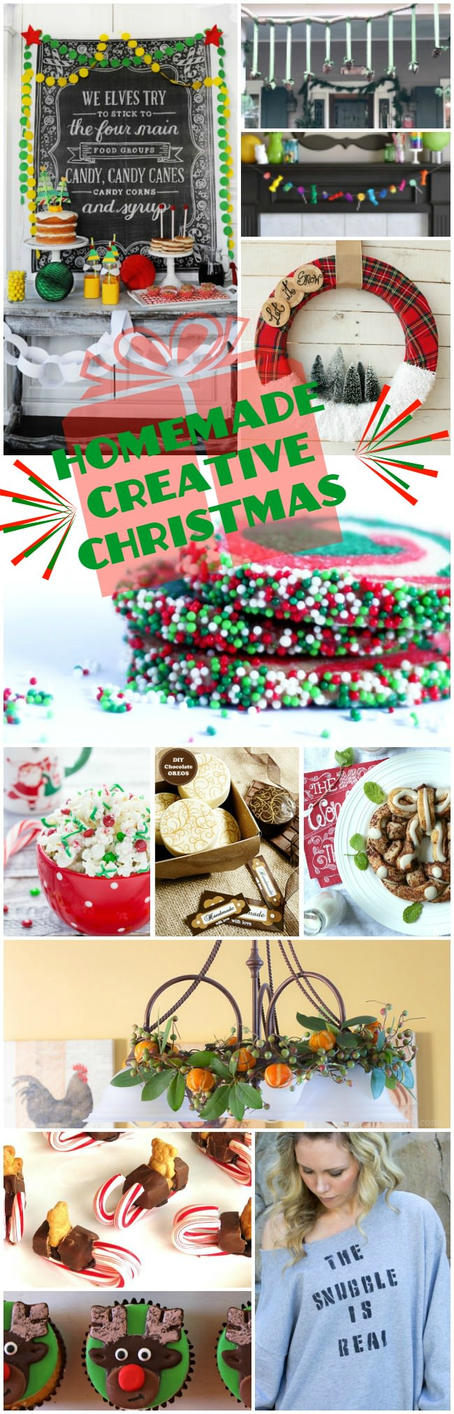 It's a Homemade Creative Christmas Celebration. Enjoy 12 fun ways to eat and craft your way through the holidays!