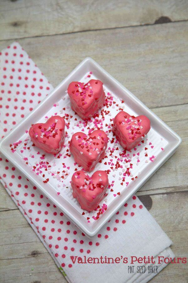 This Valentine's Day, enjoy some family time in the kitchen. Turn off the TV, put away the electronics, and bake up some homemade petit fours!
