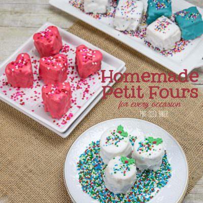 Homemade Petit Fours