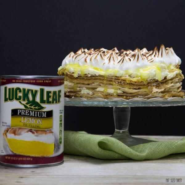 The best birthday cake for those who hate birthday cake! Make them a Lemon Meringue Crepe Cake made easy with Lucky Leaf Premium Pie Filling.