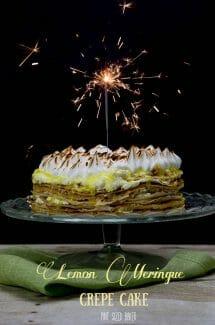 Lemon Meringue Crepe Cake