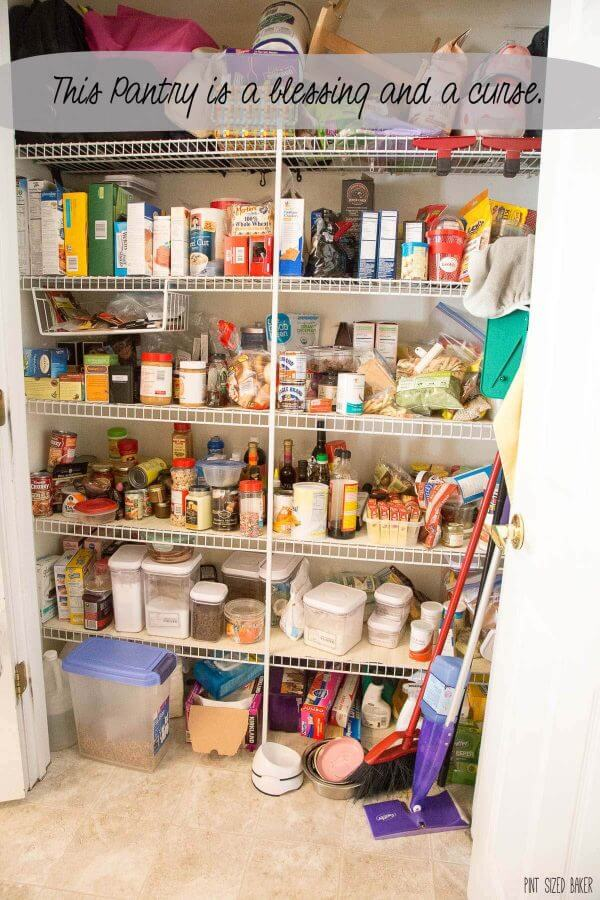 Lack of organization in the pantry is a huge pet peeve. Beginning a Kitchen Renovation Project.