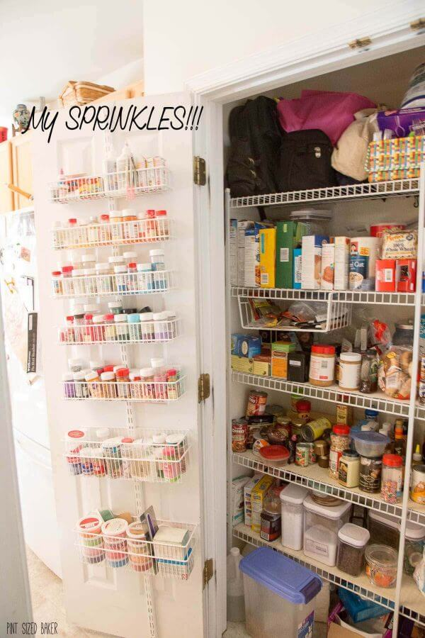Beginning a Kitchen Renovation Project. Pantry is big, but the wire shelves are not organized.